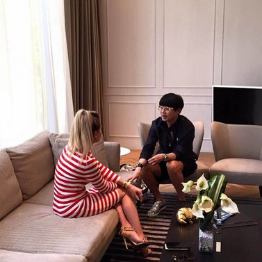 Interviewed by amazing and inspiring @kennieboy of Harper's Bazaar Singapore for @harpersbazaarsg #interview & #shoot Thanks for visiting our showroom and new NIKKIE Store at @Robinsons See you soon in Amsterdam