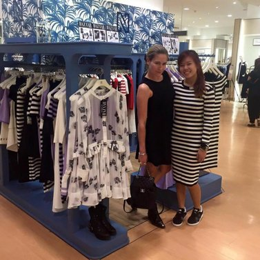 Visiting our #NIKKIE store #Takashimaya #Singapore (Orchard Road, L3) Proud of our #NIKKIE team!! #dress #NIKKIE @a.lsj