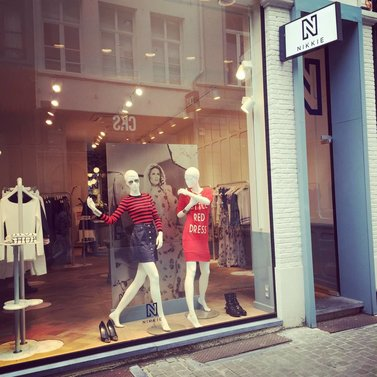 new window shopping route #NIKKIE #BrandStore #Maastricht #Stokstraat3