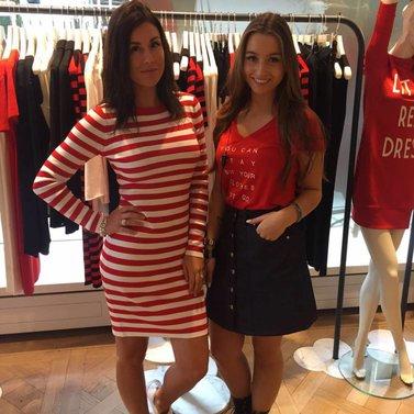 coral red #jolie#dress #stayorgo#t-shirt #bronte#a-line#skirt #NIKKIE #BrandStore #Rotterdam #Meent90