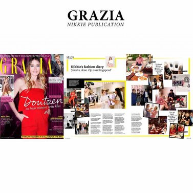 Spotted in grazia NL #NIKKIE #fashion #diary #businesstrip #Asia
