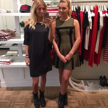 black & army! #sutton#bardot#dress #NIKKIE #BrandStore #Maastricht #Stokstraat3