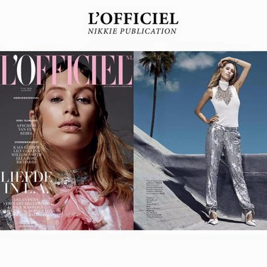 Spotted in L'Officiel nl #NIKKIE #FASHION #DIARY fashion editorial shoot @lofficielnl NIKKIE top & pants Special thanks to @nicolettegoldsmann (editor-in-chief) and @oliviadavies_xx (styling)