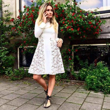 Business call #Livvy #Dress #White lace #NIKKIE