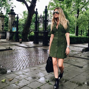 Dress to impress! #army green#leigh dress #NIKKIE