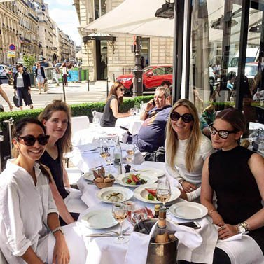 With the girls in Paris #Dress #NIKKIE L'Avenue Café