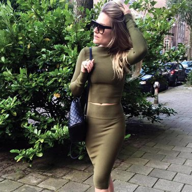 army green! jillian#skirt jilliancropped#top #NIKKIE
