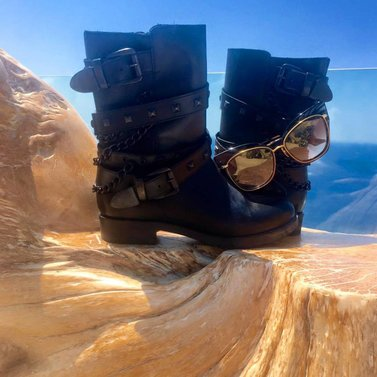 by Santa Marina, a Luxury Collection Resort, Mykonos #boots #NIKKIE #sunnies #Dita