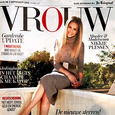 On the COVER of @vrouw_nl the September fashion issue of the Dutch newspaper @telegraaf #edition Thank you Editor in chief @mariekethart interview @jiskafischer photography @woutervanderlinde make-up @astridmkhk