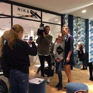 Denise came to visit the girls in Den Bosch #HNTM #NIKKIE #STORE