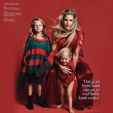 So happy with the new NIKKIE publication in the december VOGUE NL #Mom #kids #family