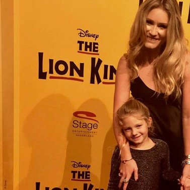 With little Jolie to the wonderful Lion King, thank you Edwin Smulders #LionKing #Musical