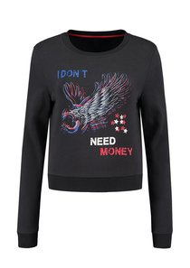 I Don't Need Money Cropped Sweater