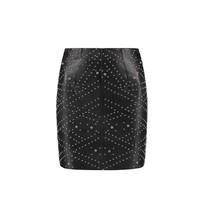 Mat High Waisted Skirt