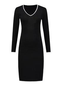 Jolie Contrast V-Neck Dress