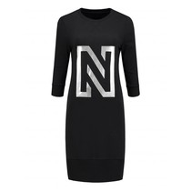 N Sweat Dress Foil Print