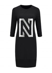 N Sweat Dress Foil Print