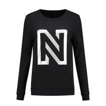 N Sweater Foil Print