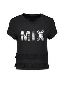 Mix Ruffle T-shirt