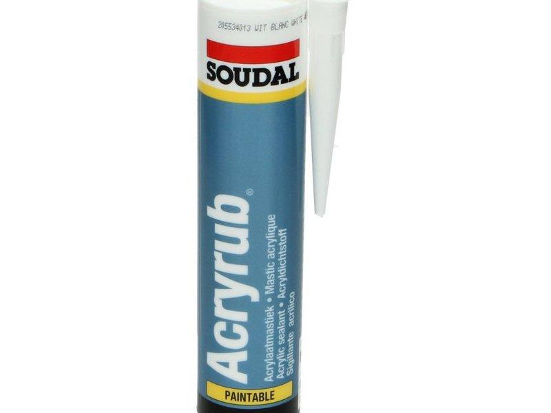 Soudal Acryrub afdichtkit wit 310 ml