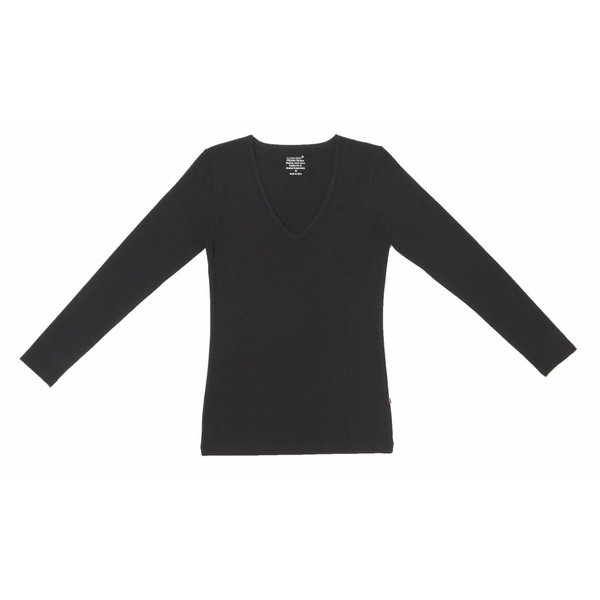 Claesen's Claesen's V-Neck T-Shirt LS Black (8011)
