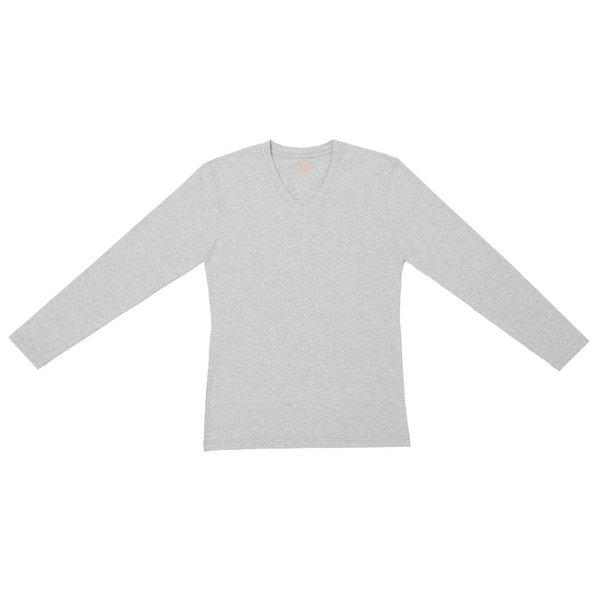 Claesen's Claesen's Long Sleeve V-Neck Grey