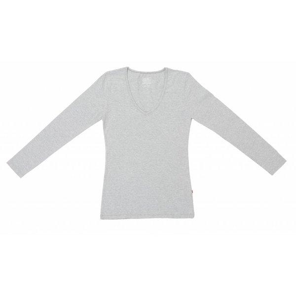 Claesen's Claesen's V-Neck T-Shirt LS Grey