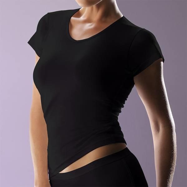 RJ RJ Ladies V-Neck T-Shirt Black