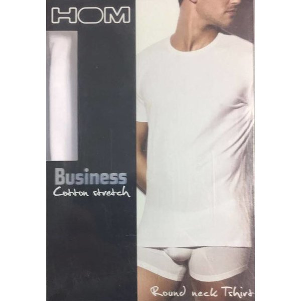 HOM HOM Business First Cotton Round Neck T-Shirt White