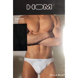 HOM HOM Business Pure Cotton Micro Brief Black