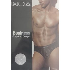 HOM HOM Elegant Stripes Brief Black