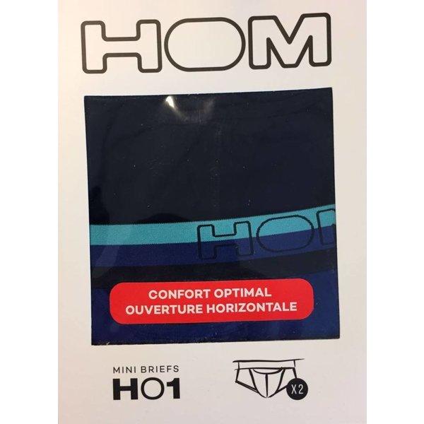 HOM HOM HO1 Mini Brief 2-Pack Blue
