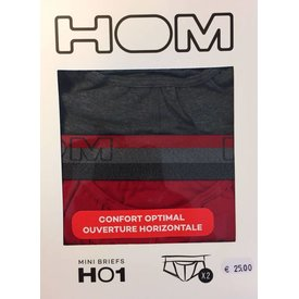 HOM HOM HO1 Mini Brief 2-Pack Red