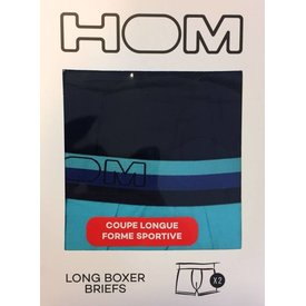 HOM HOM HO1 Long Boxer Brief 2-Pack Turquoise