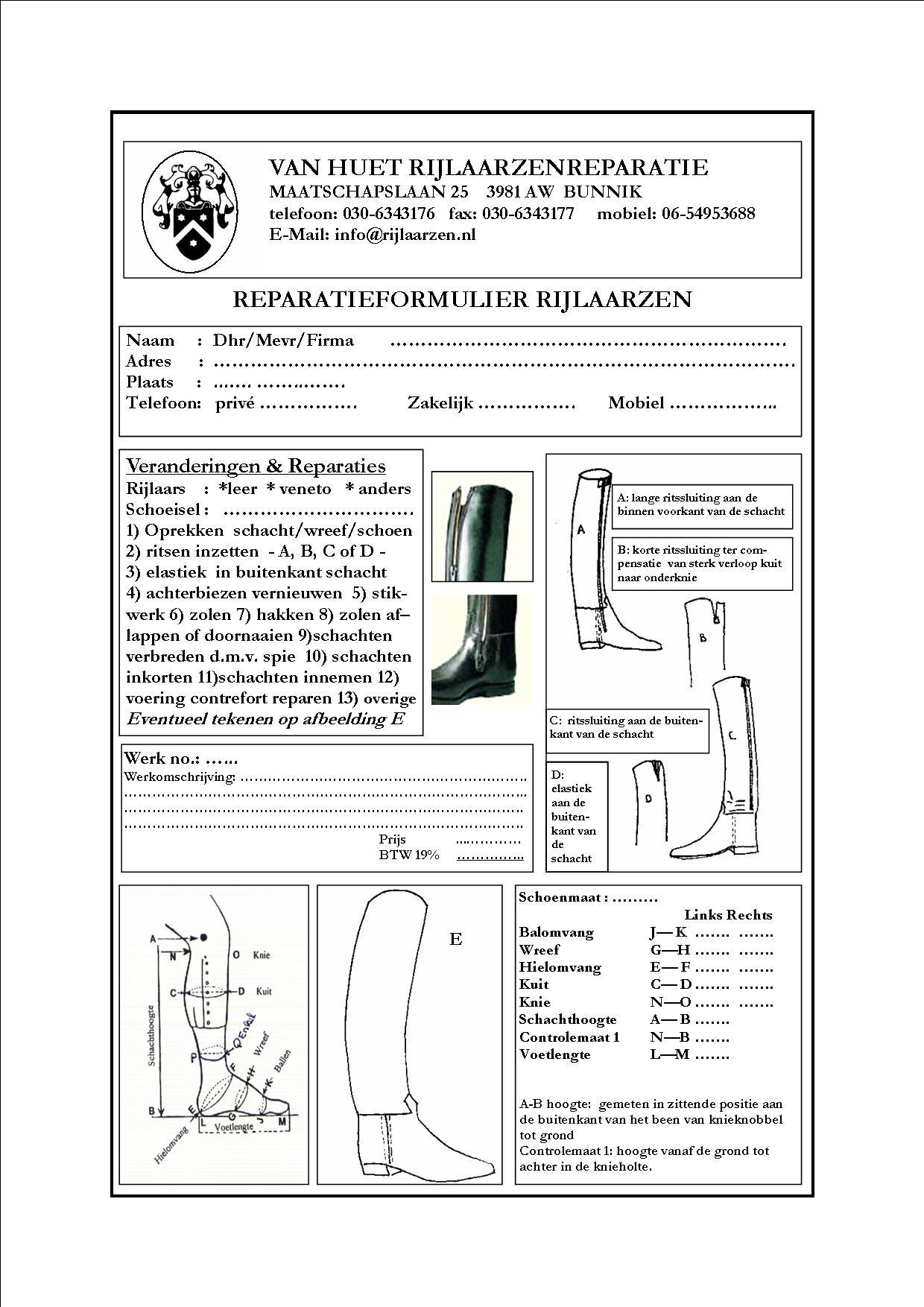 repair formular