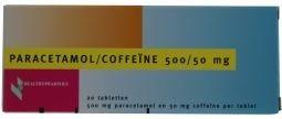 Paracetamol 500mg coffeine