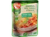 Cereal Doy ravioli tofu tomaat basilicum