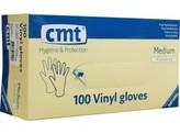 CMT Onderzoekshandschoen vinyl wit gepoederd M