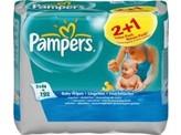 Pampers Babydoekjes baby fresh navulling, 3x 64 stuks