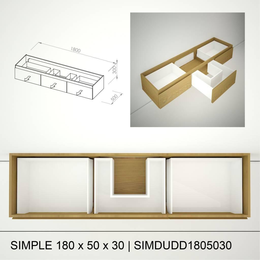 Marike Simple 180 x 50 x 30
