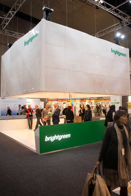 Brightgreen Messestand DesignEx