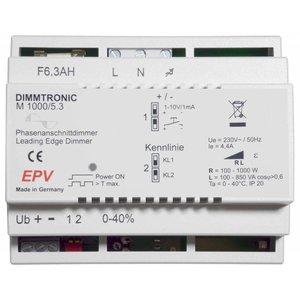 EPV Phasenanschnittdimmer DIMMTRONIC M1000/5.3 zur Tasterbedienung oder 1-10V
