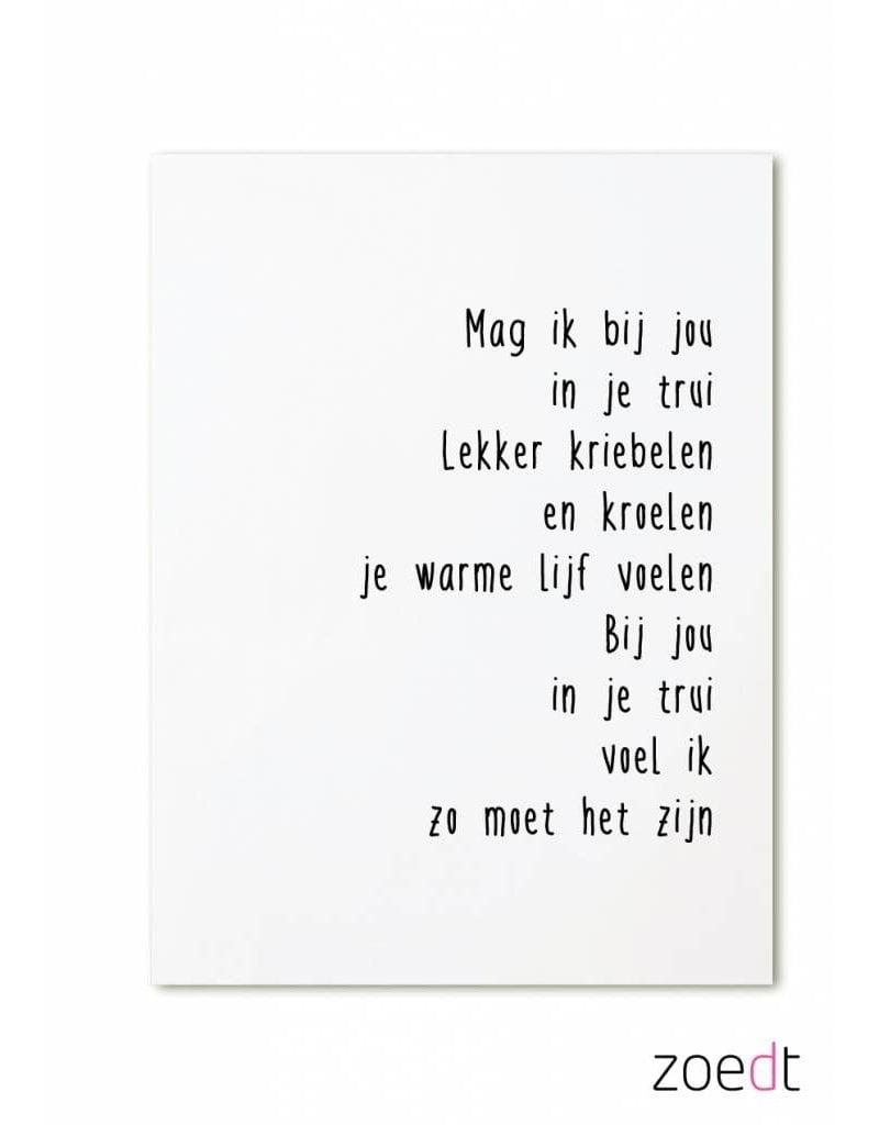 kaartje met tekst