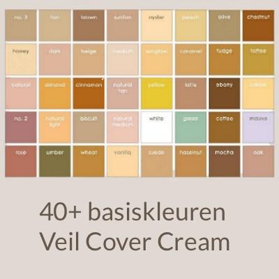 Kleurkaart Cover Cream (niet leverbaar)