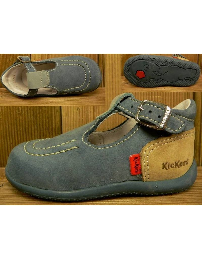 Kickers Schuhe Bonbek bleu/kaki Gr.22 Innenmass 13,6 cm statt 59Euro