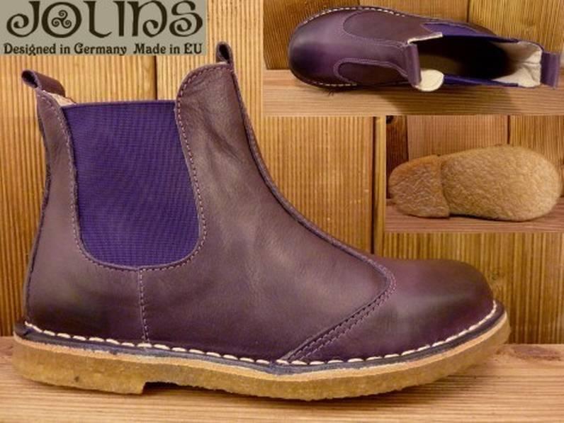 Jolins Schuhe Boots CAL lila/purple Gr. 26 Innenmass 16,8 cm vegetabile Gerbung
