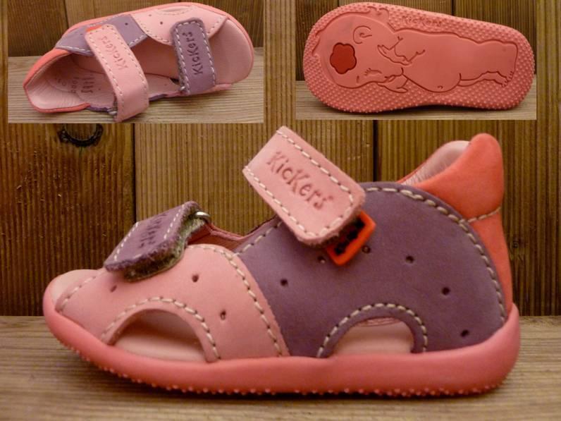 Kickers Schuhe Sandale Boan rose/lila Gr. 20 Innenmass 12,1 cm