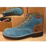 Kickers Schuhe Jeansboot koenigsblau-grau-braun  Gr. 38