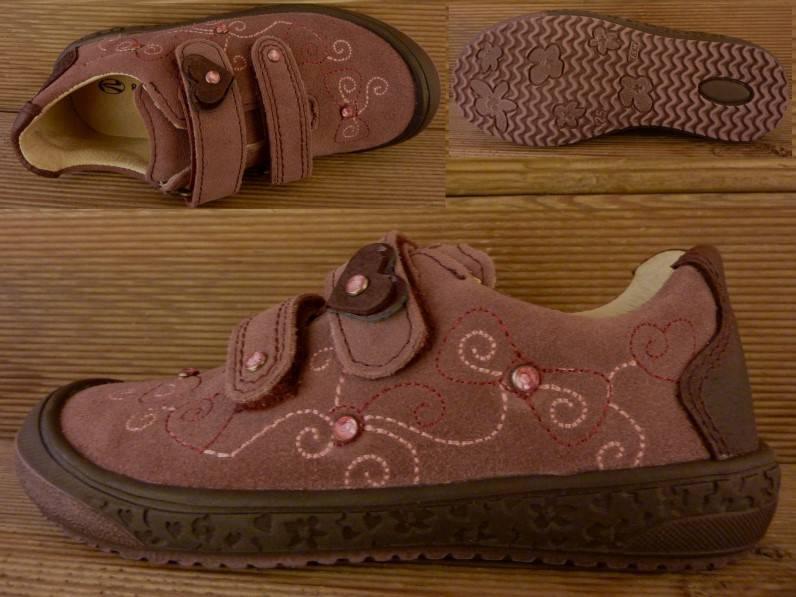 Richter Kinderschuhe Maedchen Schuhe Leder Sneaker rosa Gr. 27 Innenmass 17,0 cm