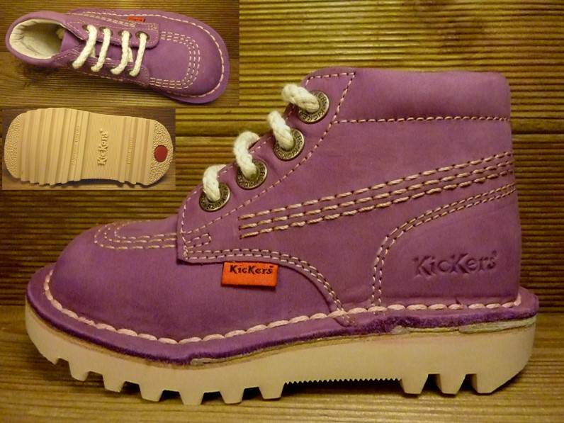 Kickers Schuhe Rallye lila/rose fonce Gr. 25    Innenmass 16,1 cm
